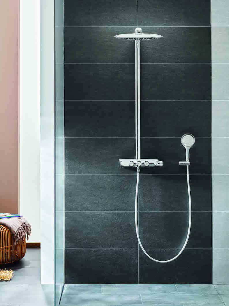 grohe 39 s new smartcontrol takes modern shower control to the next level the kbzine. Black Bedroom Furniture Sets. Home Design Ideas