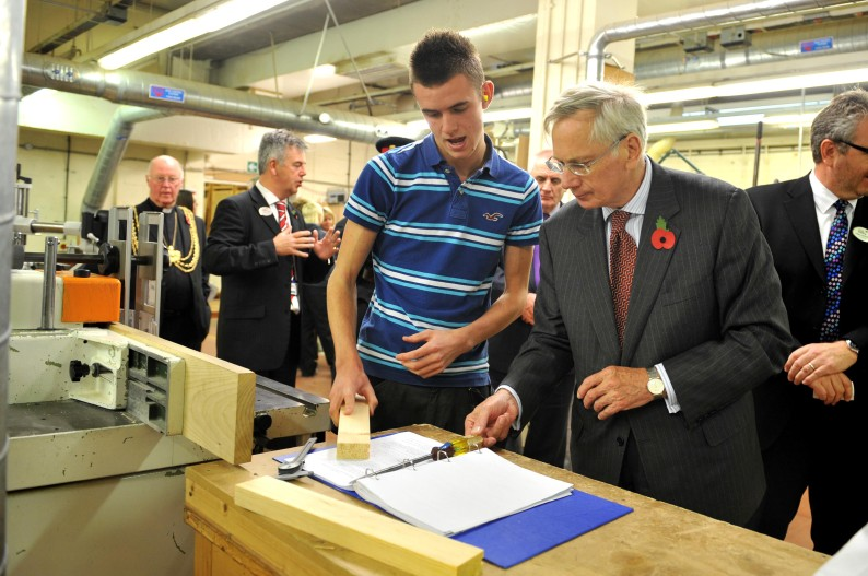 * HRH-Duke-of-Gloucester-Ellis-Furniture-Apprentice Chris Mattimoe.jpg